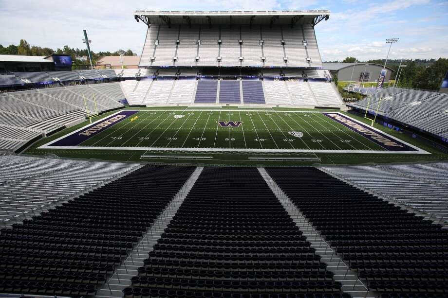 The field is shown from the suite level in the newly renovated Husky Stadium at the University of Washington. The $250 million renovation of the stadium took almost two years to complete. Photographed on Wednesday, August 28, 2013. 2013. Photo: JOSHUA TRUJILLO, SEATTLEPI.COM