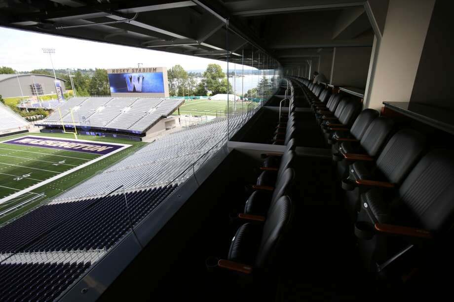 Suite boxes are shown in the newly renovated Husky Stadium at the University of Washington. The $250 million renovation of the stadium took almost two years to complete. Photographed on Wednesday, August 28, 2013. 2013. Photo: JOSHUA TRUJILLO, SEATTLEPI.COM