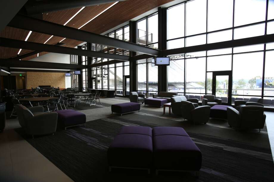 The recruiting lounge is shown in the newly renovated Husky Stadium at the University of Washington. The $250 million renovation of the stadium took almost two years to complete. Photographed on Wednesday, August 28, 2013. 2013. Photo: JOSHUA TRUJILLO, SEATTLEPI.COM
