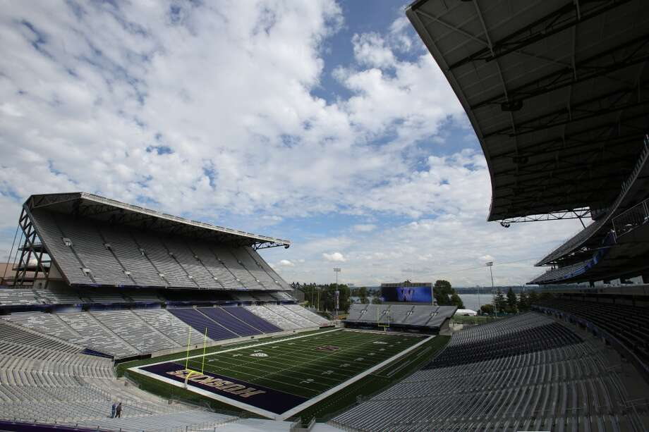 The view looking northeast is shown at the newly renovated Husky Stadium at the University of Washington. The $250 million renovation of the stadium took almost two years to complete. Photographed on Wednesday, August 28, 2013. 2013. Photo: JOSHUA TRUJILLO, SEATTLEPI.COM