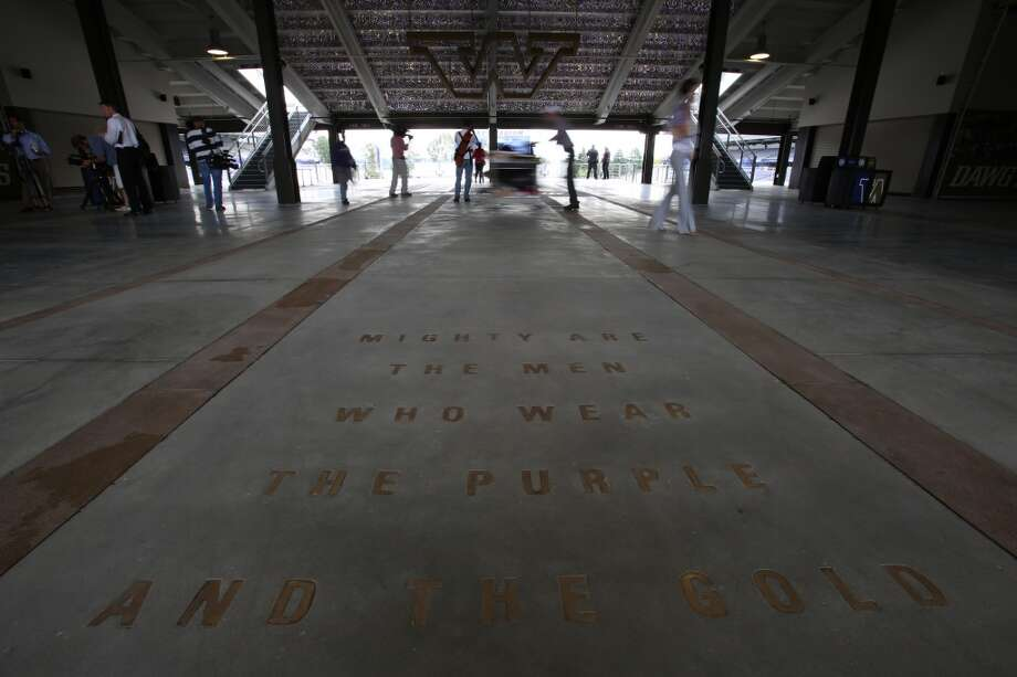 The entryway is shown at the newly renovated Husky Stadium at the University of Washington. The $250 million renovation of the stadium took almost two years to complete. Photographed on Wednesday, August 28, 2013. 2013. Photo: JOSHUA TRUJILLO, SEATTLEPI.COM