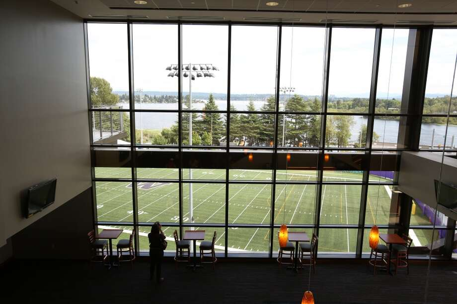 Windows on the club level are shown in the newly renovated Husky Stadium at the University of Washington. The $250 million renovation of the stadium took almost two years to complete. Photographed on Wednesday, August 28, 2013. 2013. Photo: JOSHUA TRUJILLO, SEATTLEPI.COM