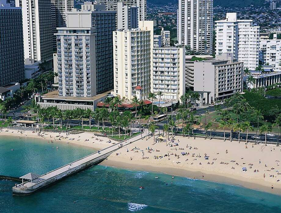 Park Shore Waikiki recently completed nearly $11 million in upgrades to its guest rooms, rooftop pool deck and public areas. Photo: Aqua Hospitality
