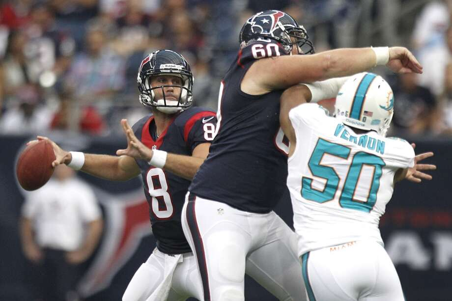 Matt Schaub, QB  Performance-based bonus: $6,424 Photo: Brett Coomer, Houston Chronicle