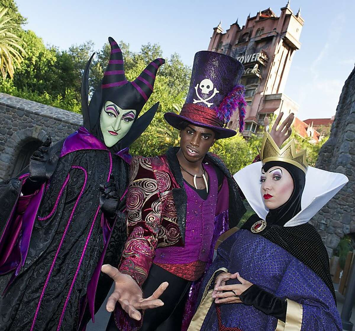 """Disney Villains such as Maleficent, Dr. Facilier and the Evil Queen wait with eerie anticipation as a night of mischief approaches. On Friday Sept. 13, 2013 Disneyland and Disney's Hollywood Studios at Walt Disney World Resort will remain open until the 13th hour (1 a.m.) as the Disney villains are unleashed as part of the Disney Parks Limited Time Magic. The one-night-only event """"Unleash the Villains"""" will include special meet and greets and a dance party hosted by an evil ensemble."""