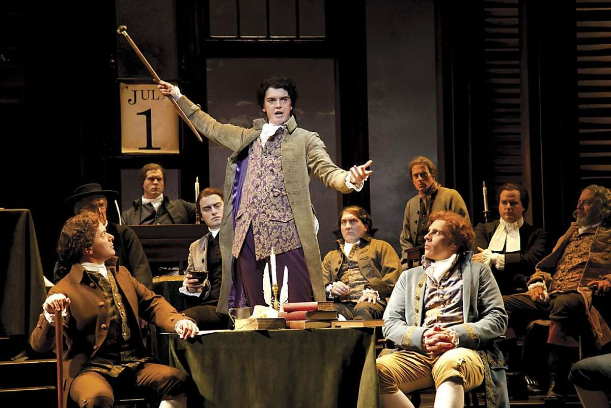 Edward Rutledge (Jarrod Zimmerman) makes a a passionate appeal to the delegates in American Conservatory Theater's season-opening