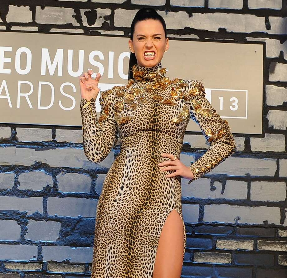 With her claws out and teeth bared, Katy Perry channels her inner leopard, and makes us wish she had kept it caged up at home. Photo: Dimitrios Kambouris, WireImage