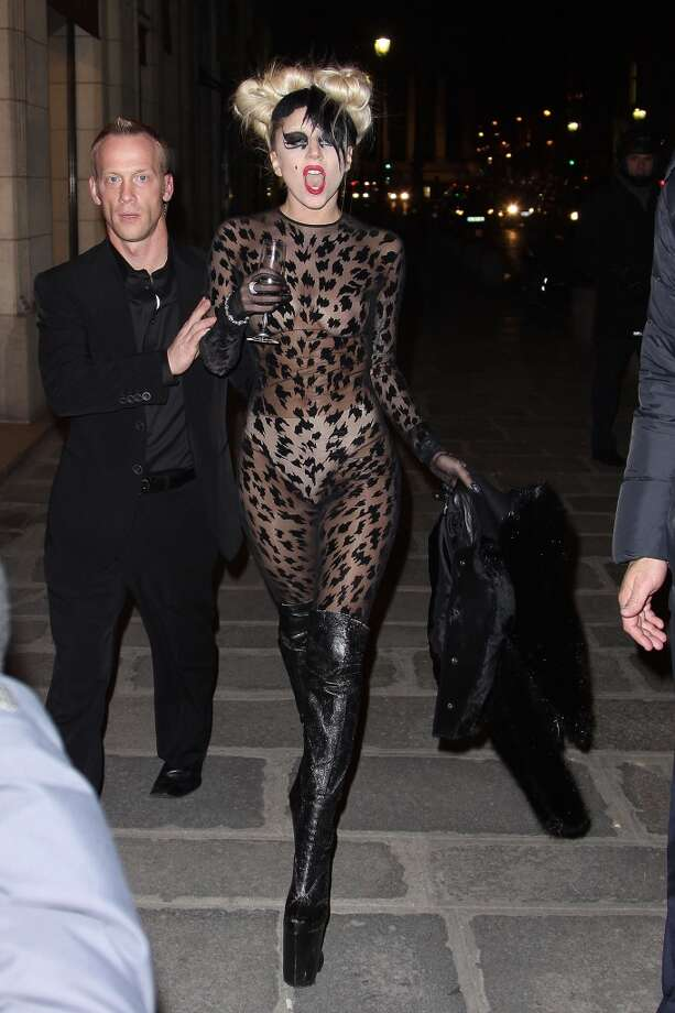 Lady Gaga's full-body leotard speaks for itself. Photo: Marc Piasecki, WireImage