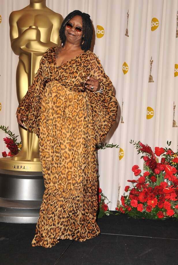 Whoopi Goldberg is known for making interesting fashion choices, but leopard-print miu mius at the Oscars should never be an option. Photo: Steve Granitz, WireImage
