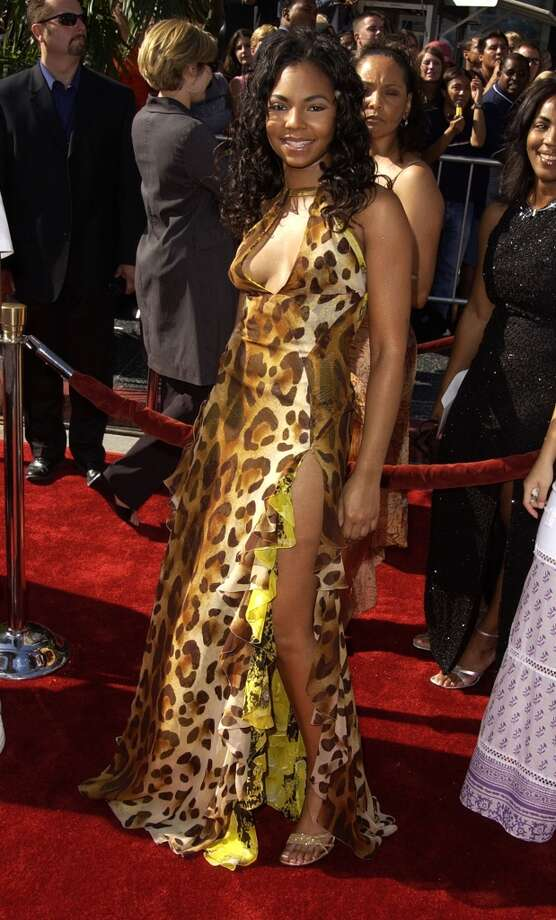 Leopard + neon + high slit + low-cut neckline = all bad. Sorry, Ashanti, you can only have one at a time. Photo: SGranitz, WireImage