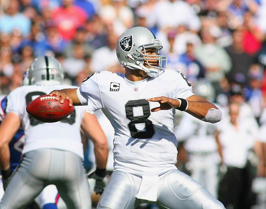 The late Al Davis said that Jason Campbell reminded him of Jim Plunkett when he signed with the team in 2011. It was not an apt comparison. Photo: Rick Stewart, Getty Images