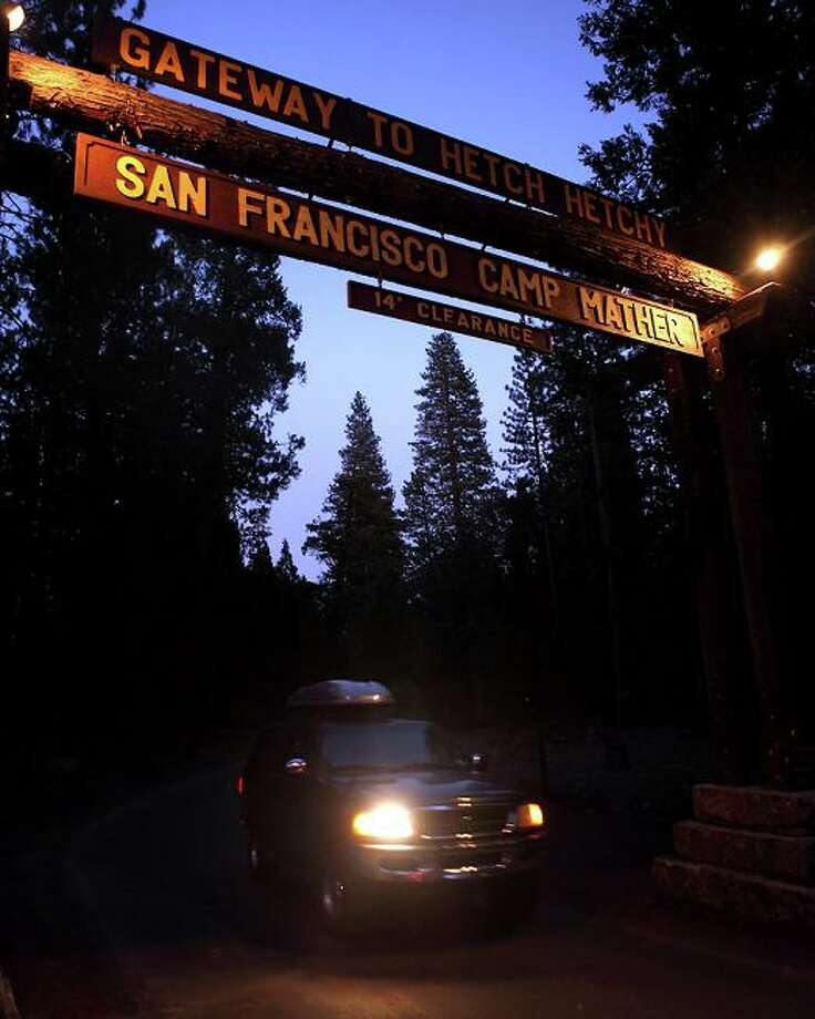 The entrance to Camp Mather in 2009. Router technology has advanced and that may not be the exact same log, but it's impressive that 80 years later the look is basically the same. Photo: Carlos Avila Gonzalez, The Chronicle / The Chronicle