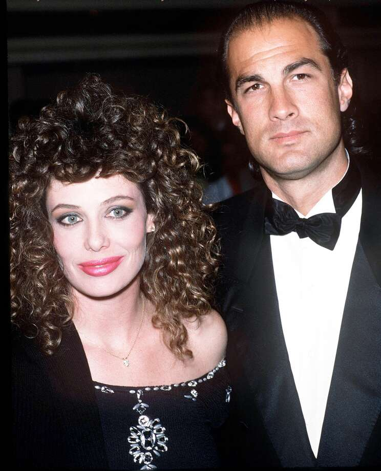 Kelly LeBrock with Steven Seagall. Photo: Getty