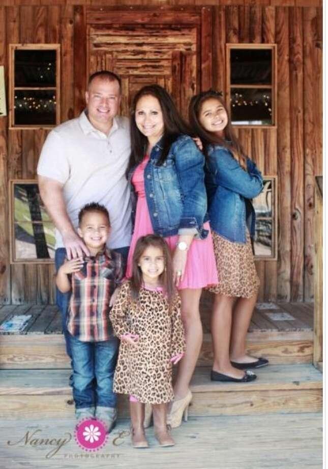 The Kolenda family at Clay's Restaurant in Houston. Photo: Nancy Photography