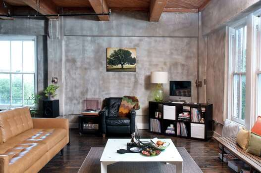 The Dakota Lofts apartment of Nick Espinosa and Carlos Meltzer. Photo: Don Glentzer