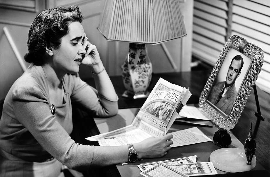 Life Insurance Awareness MonthDon't let this happen to you (or the woman in this sexist 1950s life insurance advertisement). Photo: George Marks, Getty Images / (c) George Marks