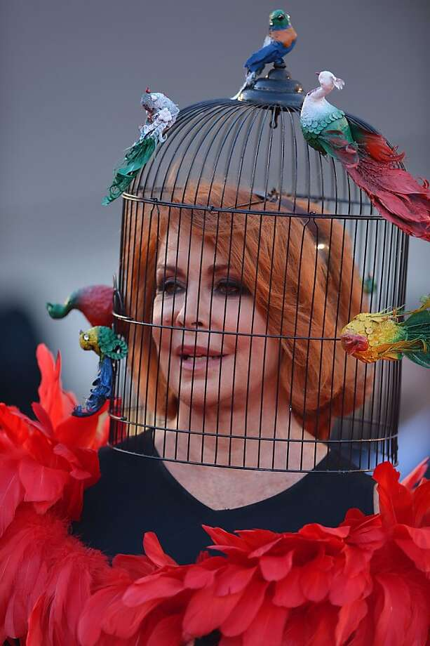 Trick or tweet:Marina Ripa di Meana deserves to be behind bars for showing up to the 70th Venice Film Festival in a Halloween costume. Photo: Gabriel Bouys, AFP/Getty Images