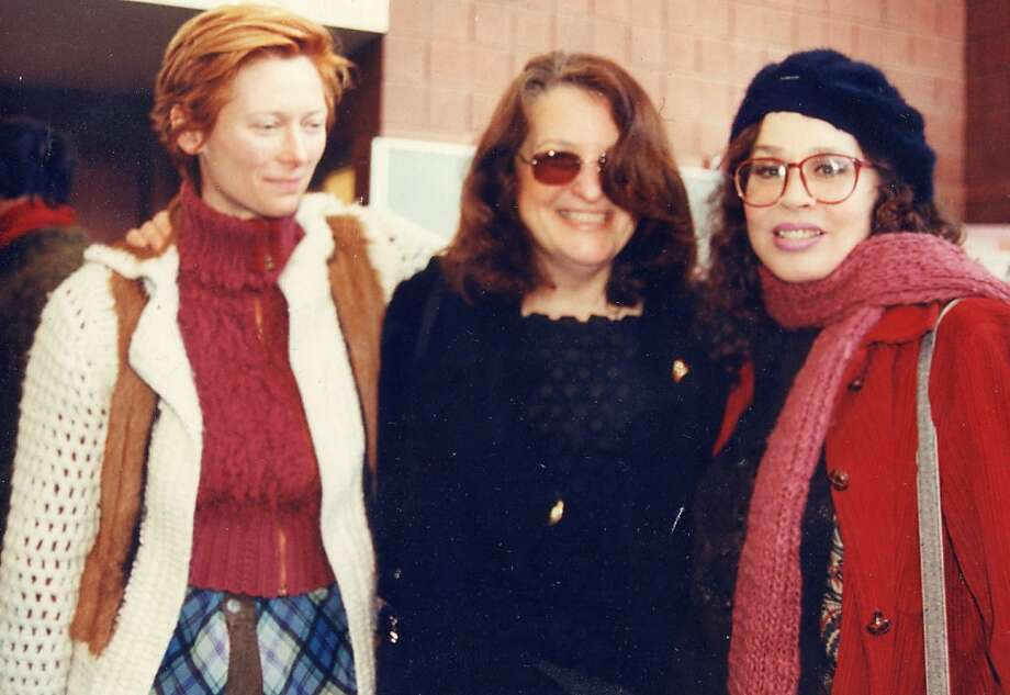 Actress Tilda Swinton (left), director Lynn Hershman Leeson and Karen Black attend the Sundance Film Festival in 2002. Photo: Courtesy Lynn Hershman Leeson I