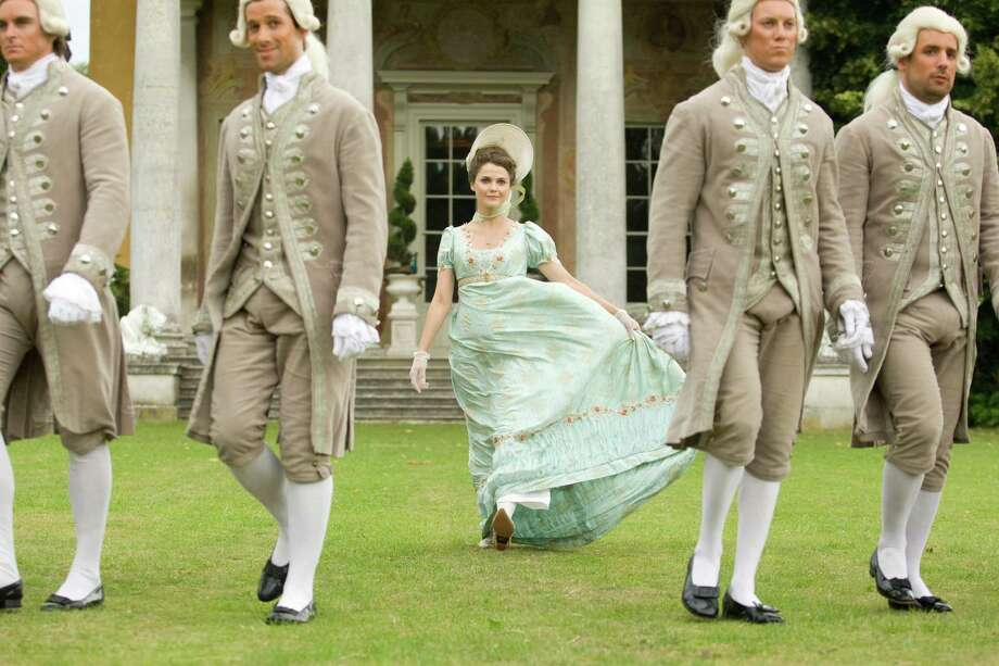 "Jane (Keri Russell) gets carried away with the pomp and circumstance of her Jane Austen-era surroundings in ""Austenland."" / © SONY PICTURES ENTERTAINMENT INC."