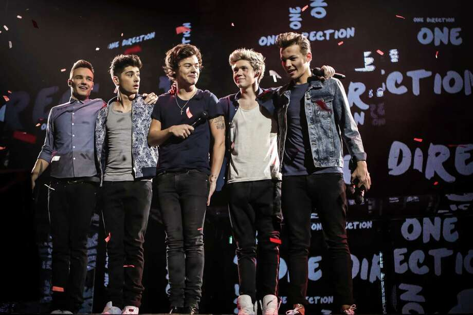 L-r, Liam Payne, Zayn Malik, Harry Styles, Niall Horan and Louis Tomlinson in TriStar Pictures' One Direction: This Is Us. Photo: Christie Goodwin / © 2013 TriStar Pictures. All Rights Reserved.