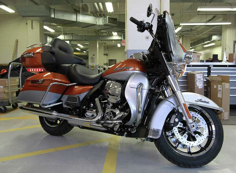 In advance of its 110th anniversary party, Harley-Davidson is unveiling eight models retooled with what it calls Project Rushmore features. (Gary Porter/Milwaukee Journal Sentinel/MCT) Photo: Gary Porter, McClatchy-Tribune News Service / Milwaukee Journal Sentinel
