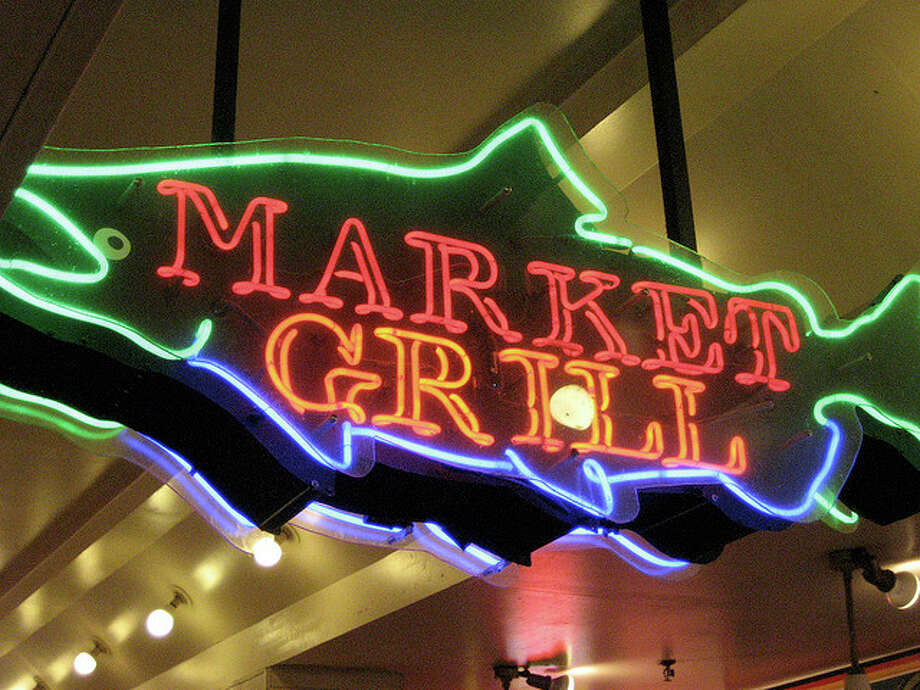 Market Grill's sign in Seattle's Pike Place Market. 