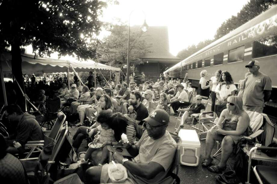 Hobofest's free music draws a crowd each year at the Union Depot Station in Saranac Lake. (Laura Carbone) / Laura Carbone
