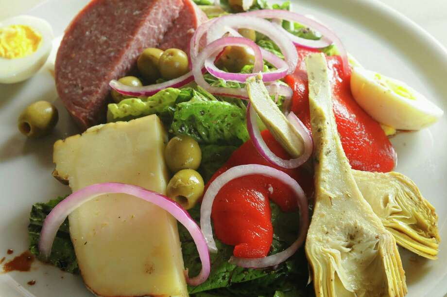 DownTown City Tavern. 21 Elm St., Glens Falls.The Italian deli salad at DownTown City Tavern on Thursday Aug. 22, 2013 in Glens Falls, N.Y. (Michael P. Farrell/Times Union) Photo: Michael P. Farrell / 00023600A