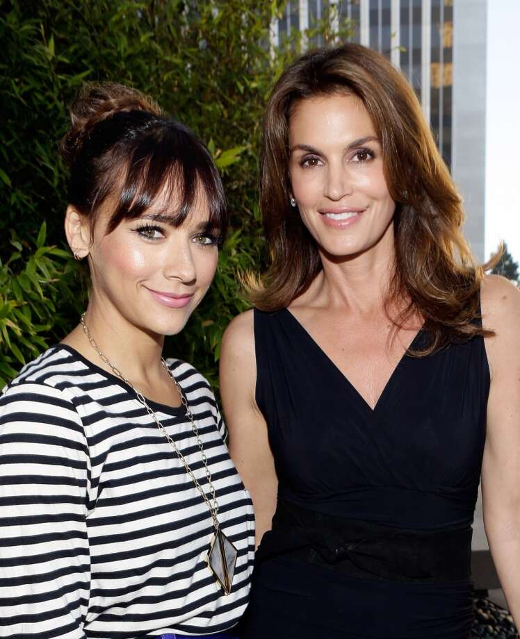CENTURY CITY, CA - JUNE 27:  Actress Rashida Jones (L) and Cindy Crawford attend the Helmut Newton opening night exhibit at Annenberg Space For Photography on June 27, 2013 in Century City, California.  (Photo by Mike Windle/Getty Images for Annenberg Space For Photography) Photo: Mike Windle
