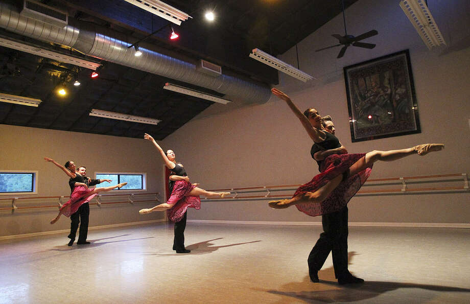 Dancers with Ballet Hispanico de San Antonio perform at an unveiling party at their studio. The dance company is overseen by Mayra Worthen. Photo: Kin Man Hui / San Antonio Express-News