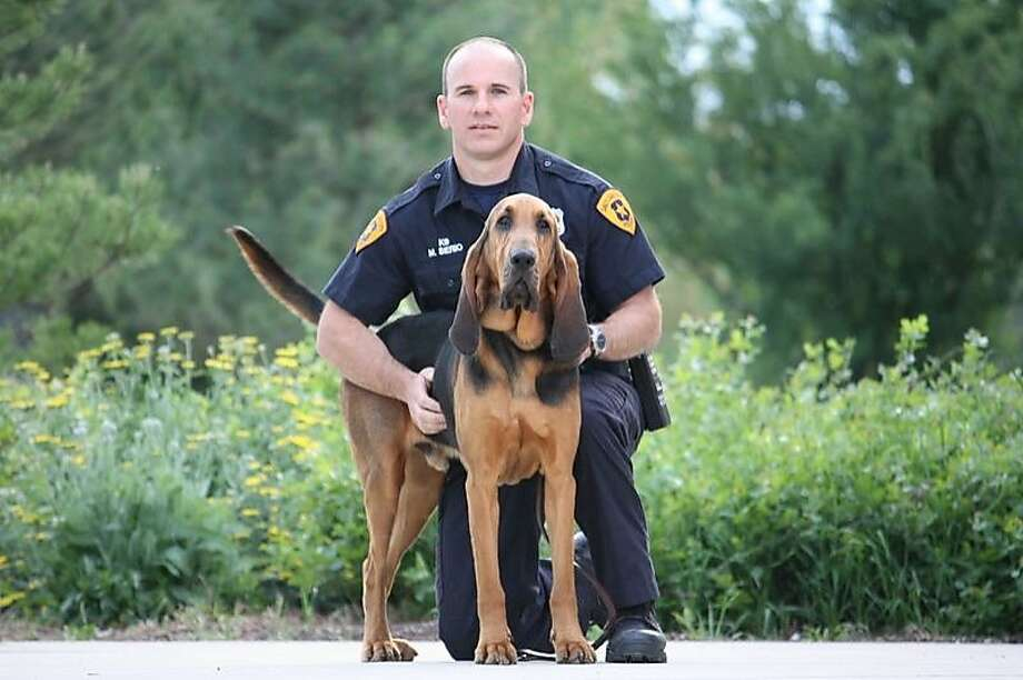 Officer Mike Serio and his new K9 partner, Junior. Photo: Salt Lake City Police Department