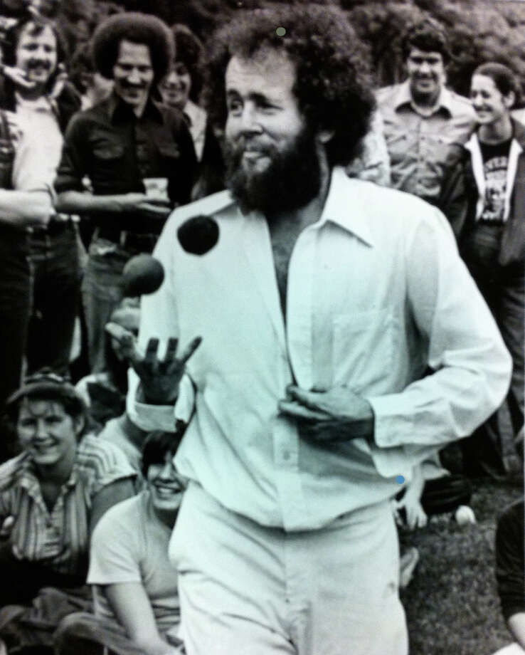 "You also don't see anything like this self-described ""juggler intraordinaire,"" who did a ""striptease juggling routine"" at Bumbershoot in 1979.  Photo: -"