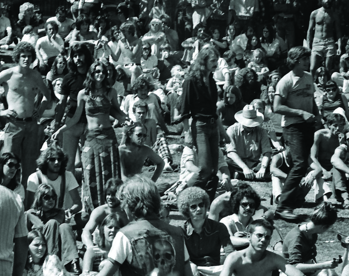 The audience for Bumbershoot's KZOK stage was a sea of 'fros, 'staches and halter tops in 1974.