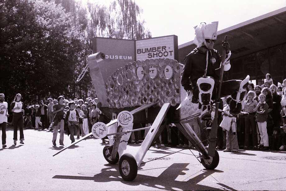 It's been a while since contraptions like these made their way around Bumbershoot. (1979).  Photo: -