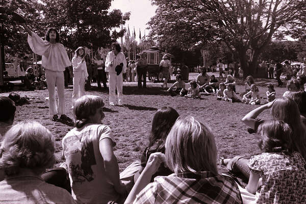 Bumbershoot KZOK stage, 1974. 2002.68.1073. Seattle Post-Intelligencer