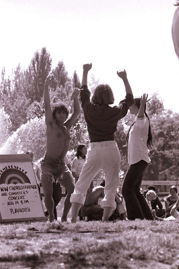 "Rocking the cut-offs. (""NW Choreographers and Composers Concert,""  Bumbershoot, 1974). Photo: -"