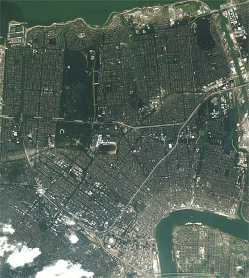 It's effects still being felt today, Hurricane Katrina began in late August 2005 and is remembered as one of the deadliest hurricanes in US history.  The storm had done around $108 billion in damages and resulted in the deaths of more than 1,800 people. Pictured here is a flooded portion of New Orleans near Lake Pontchatrain. (NASA)