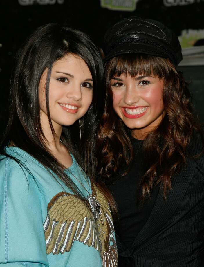 Actresses Selena Gomez and Demi Lovato arrive at Chevy Rocks The Future at the Buena Vista Lot at The Walt Disney Studios on February 19, 2008 in Burbank, California. Photo: Mark Davis, Getty Images