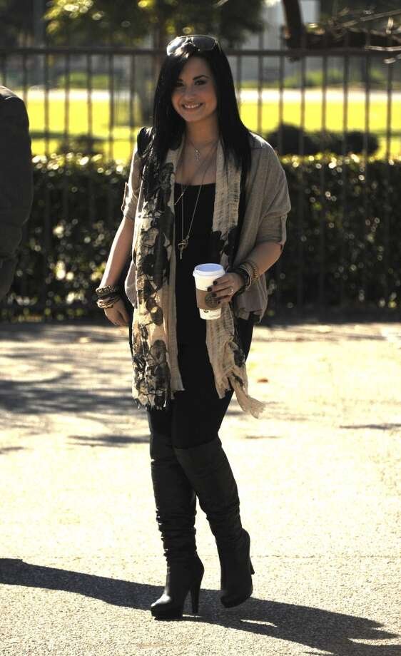 Demi Lovato sighting on January 28, 2011 in Santa Monica, California. Photo: Frazer Harrison, Getty Images