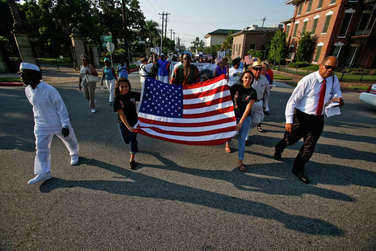 Galveston community groups marched on the 50th anniversary of Martin Luther King's