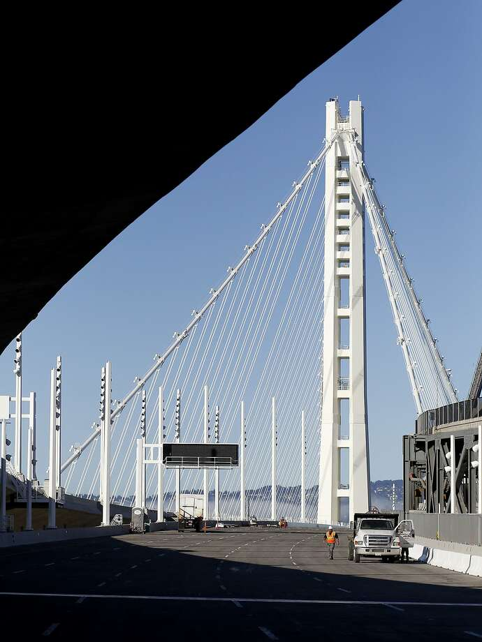 Leaks have sprung in the new eastern span of the Bay Bridge. Photo: Brant Ward, The Chronicle
