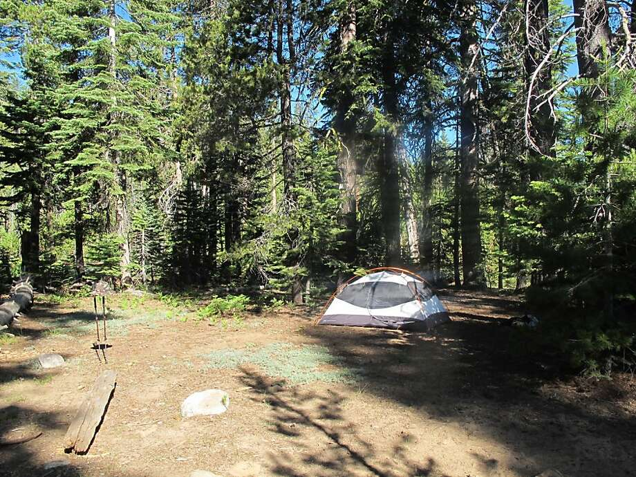 A tent sits near Lake Eleanor just inside the Yosemite National Park boundary before the Rim Fire burned throughout the area, taking all of the walk-in campsites around the lake with it. Photo: Michael Furniss, Courtesy Photo