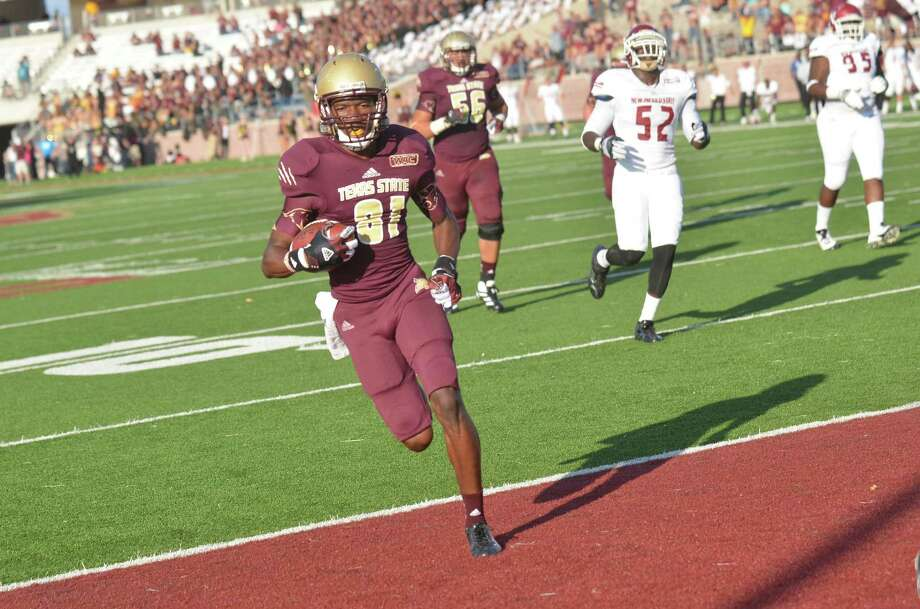 Texas State wide receiver Brandon Smith caught 21 passes for 226 yards and two touchdowns last season as a freshman. Photo: Courtesy Photo / Texas State