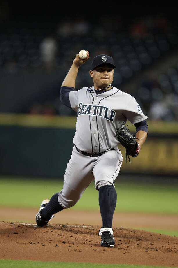 Mariners starting pitcher Erasmo Ramirez pitches. Photo: Karen Warren, Houston Chronicle