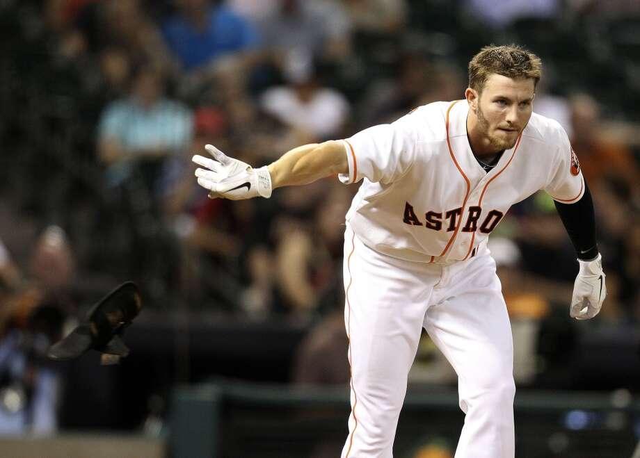 Astros left fielder Robbie Grossman reacts after striking out. Photo: Karen Warren, Houston Chronicle