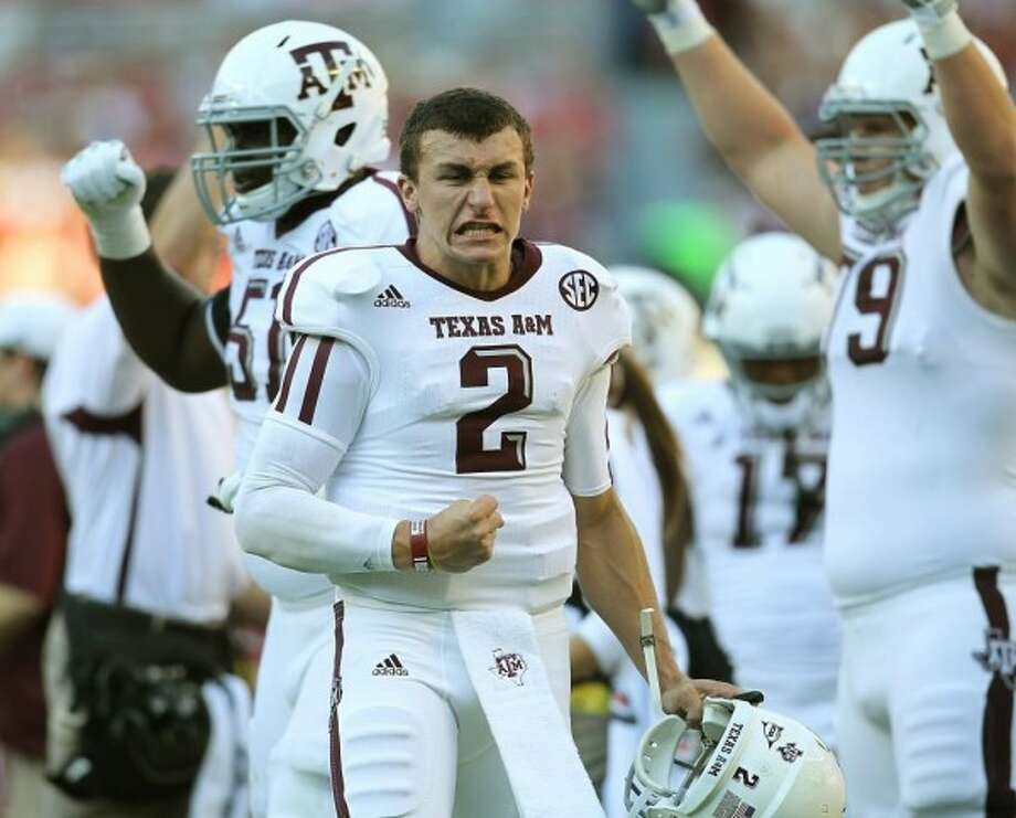 Manziel's first snaps of 2013 not until second half against Rice.