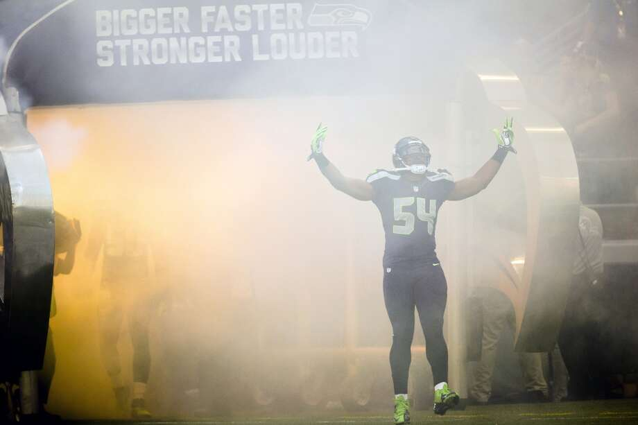 Bobby Wagner takes to the field before the final preseason game against the Oakland Raiders Thursday, August 29, 2013, at CenturyLink Field in Seattle. Seahawks led the Raiders 13-3 at the end of the first half. (Jordan Stead, seattlepi.com) Photo: JORDAN STEAD, SEATTLEPI.COM