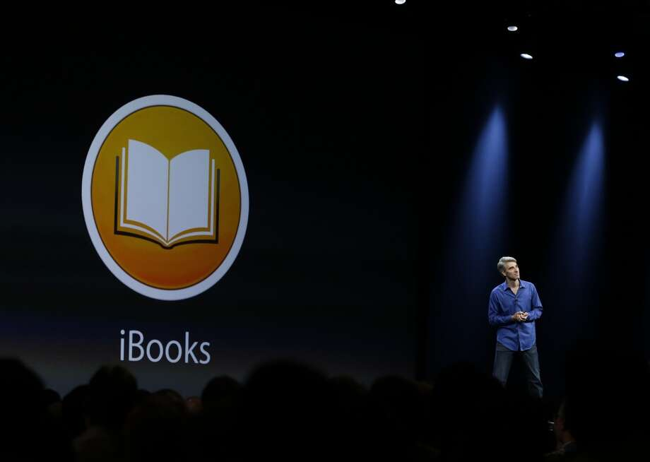 Craig Federighi, senior vice president of Software Engineering at Apple introduces iBooks during the keynote address of the Apple Worldwide Developers Conference Monday, June 10, 2013 in San Francisco. (AP Photo/Eric Risberg) Photo: Associated Press