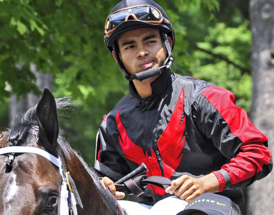 "Twenty year old sensation ""Luis Saez"" is making an impact on New York racing. He won the opener on Hardest Core to start  the 150th race season at Saratoga, and just capped off a victory in the oldest stakes race in America, ""The Travers"" aboard ""Will Take Charge"" Fleetphoto (George Zilberman)"
