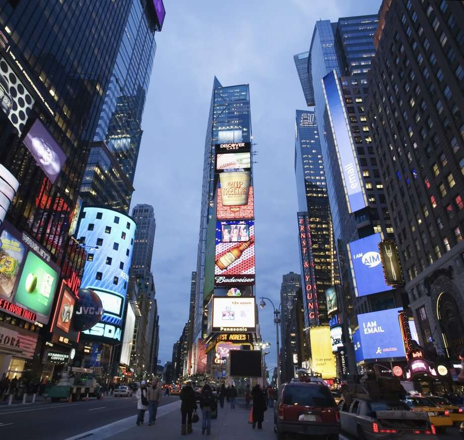 7. New York City, Times Square Photo: Uyen Le, Getty Images